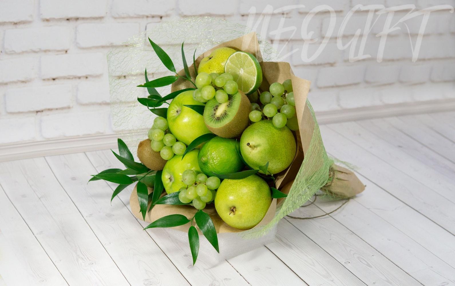 Букет с яблоками своими руками